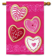 Heart Cookies House Flag by Toland Flags