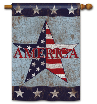 America Patriotic House Flag by BreezeArt