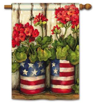 Glory Garden Patriotic House Flag