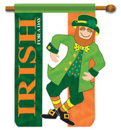 Irish for a Day Applique House Flag - 2 Sided Message