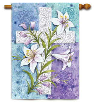 Toland Easter Lily House Flag