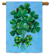 Clovers and Ladybugs Toland House Flag