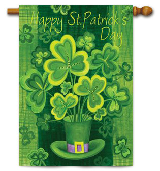 Happy St. Patrick's Day House Flag by Toland