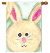 Cute Bunny With Floppy Ears House Flag by Toland
