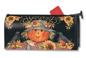 Harvest Scarecrow Mailwraps Magnetic Mailbox Cover