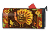 Folk Turkey Mailwraps Magnetic Mailbox Cover