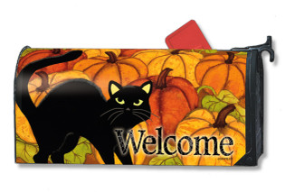Pumpkin Patch Cat Mailwraps Magnetic Mailbox Cover