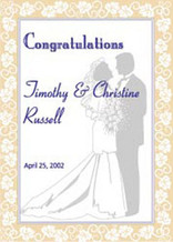 Personalized Wedding Flag - Garden Size 14 x 19.5