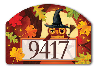 Halloween Owl Address Sign