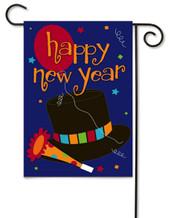 Happy New Year Applique Garden Flag