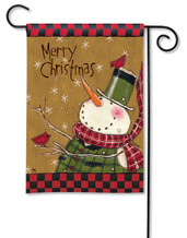 Country Snowman Garden Flag
