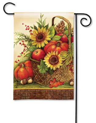 Fall Basket Garden Flag