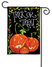 Halloween Treat Garden Flag