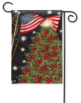 Patriotic Christmas Garden Flag