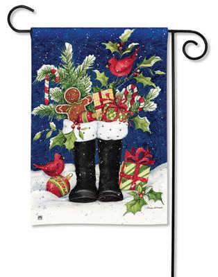 Santa's Boots Garden Flag