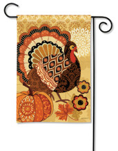 Turkey Time Garden Flag