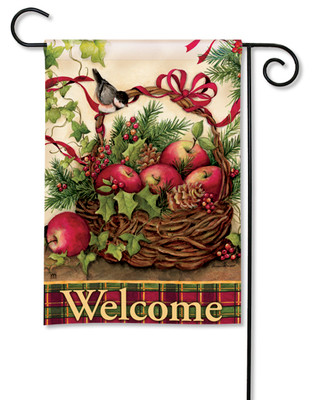 Winter Basket Garden Flag