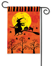 Witch's Ride Garden Flag