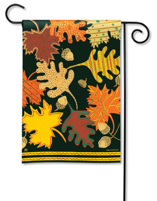 Patterned Leaves Garden Flag