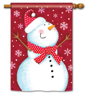 Red Snowman Standard Flag