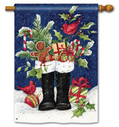 Santa's Boots Standard Flag