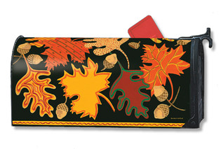 Patterned Leaves Mailwraps Magnetic Mailbox Cover
