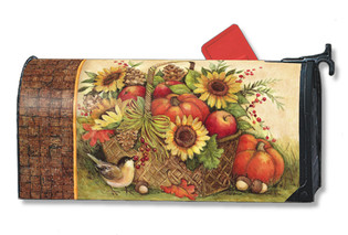 Fall Basket Mailwraps Magnetic Mailbox Cover
