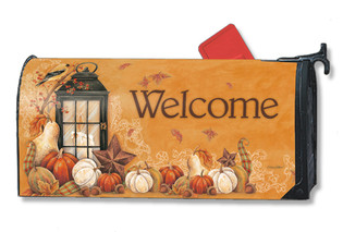 Autumn Lantern Mailwraps Magnetic Mailbox Cover