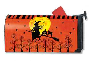 Witch's Ride Mailwraps Magnetic Mailbox Cover