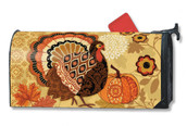 Turkey Time Mailwraps Magnetic Mailbox Cover