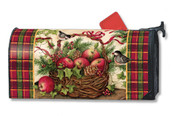 Winter Basket Mailwraps Magnetic Mailbox Cover