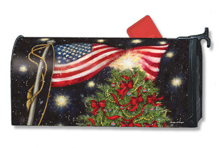 Patriotic Christmas Mailbox Cover