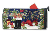 Santa's Boots Mailwraps Magnetic Mailbox Cover