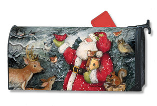 Birdhouse Santa Mailwraps Magnetic Mailbox Cover
