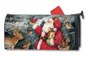 Birdhouse Santa Mailwraps Magnetic Mailbox Cover
