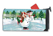 Snowy Skater Mailwraps Magnetic Mailbox Cover