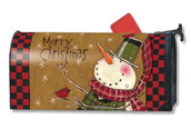 Country Snowman Mailwraps Magnetic Mailbox Cover
