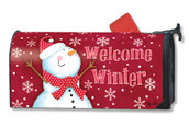 Red Snowman Mailwraps Magnetic Mailbox Cover