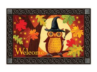 Halloween Owl MatMates Doormat