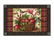 Winter Basket MatMates Doormat