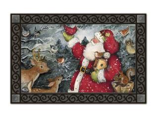 Birdhouse Santa Doormat