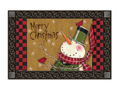 Country Snowman MatMates Doormat