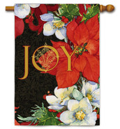 Joy Poinsettia House Flag