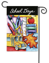 Welcome Back to School Garden Flag by Toland Flags