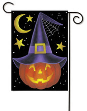 Witch Pumpkin Garden Flag by Toland Flags