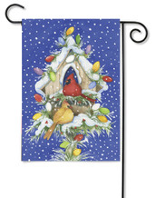 Cardinal Lights Garden Flag by Toland Flags