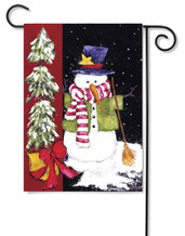 Sweeping Snowman Garden Flag by Toland Flags
