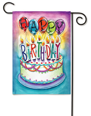 Birthday Wishes Garden Flag by Toland Flags
