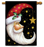 Santa Moon House Flag by Toland Flags