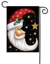 Santa Moon Garden Flag by Toland Flags